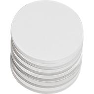 Ronde presentatiekaarten, ø 95 mm, wit, 250 st.