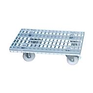 Roosterwagen, voor intern gebruik, gegalvaniseerd, 780 x 420 mm