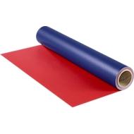 Rouleau de papier cadeau, bleu/rouge