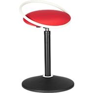 ROVO SOLO zit/stakruk, met zitring, polyamide 3D-weefsel, wit/rood