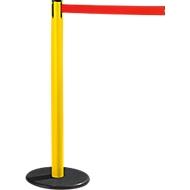 RS-GUIDESYSTEMS® Gurtpfosten GLA 28, gelb, Gurt rot