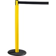 RS-GUIDESYSTEMS® Gurtpfosten GLA 28, gelb, Gurt schwarz