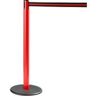 RS-GUIDESYSTEMS® Gurtpfosten GLA 28, rot, Gurt schwarz/rot