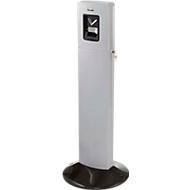 Rubbermaid staande asbak Metropolitan, aluminium, met binnenemmer van 6 l, voor buiten, zilver