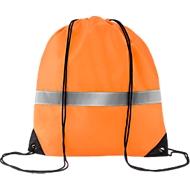 Rucksack Stripe, Polyester, mit Kordelzug, orange