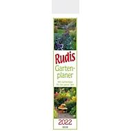 Rudis Gartenplaner, 13 Seiten, B 110 x H 480 mm, Werbedruck 100 x 100 mm, Auswahl Werbeanbringung erforderlich