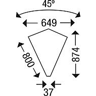 Rückseitenblende für Winkelplatten, weißaluminium
