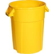 Rundbehälter, lebensmittelecht, 85 l, gelb
