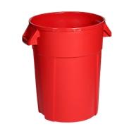 Rundbehälter, lebensmittelecht, 85 l, rot