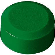 Rundmagnete MAUL, Kunststoff & Metall, Feinstruktur, Haftkraft 170 g, ø 15 x 7,5 mm, grün, 20 Stück