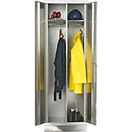 Rvs garderobekast, 1800 x 800 x 500 mm