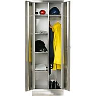 RVS locker, b 800 x d 500 x 1850 mm, met poten