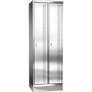 Rvs locker met fitting, 2 compartimenten, B300 mm,