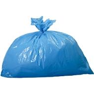 Sacs poubelle en polyéthylène HDPE, 23 mµ, 60 litres, bleu, 250 pièces