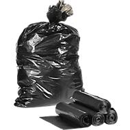 Sacs poubelle plastique, 120 litres, noir, 250 pièces