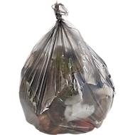 Sacs poubelle universels en polyéthylène HDPE, 30 litres, 6 mµ, gris, 2500 pièces