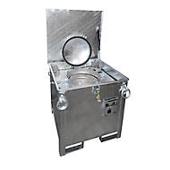 Sammelbehälter BAUER ASB 250, Stahlblech, Innentank feuerverzinkt, stapelbar, abschließbar, B 790 x T 815 x H 830 mm