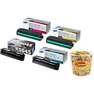 SAMSUNG CLT-K504S Serie Tonerkassetten Sparset + HARIBO Goldbären, GRATIS