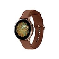 Samsung Galaxy Watch Active 2 - Gold, Edelstahl - intelligente Uhr mit Band - braun - 4 GB - nicht angegeben