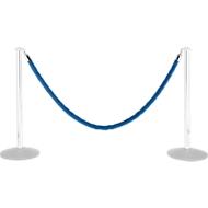 Samtseil, 2 m, blau