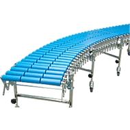 Schaar-rollenbanen, baanbreedte 600 mm, met 3 steunen