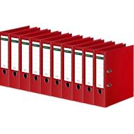 SCHÄFER SHOP gekleurde ordners, A4, 80 mm, PP, rood, 10 stuks