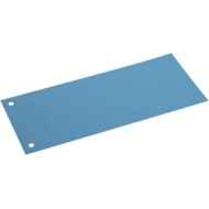 SCHÄFER SHOP Gekleurde verdeelstroken uit karton, 240 x 105 mm, blauw,100 stuks