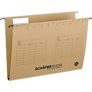SCHÄFER SHOP Hängesammler, Öffnung seitlich, für Formate bis DIN A4, 30 mm Breit