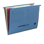 SCHÄFER SHOP hangmap met vakken, voor formaten tot A4, karton, blauw, 5 stuks