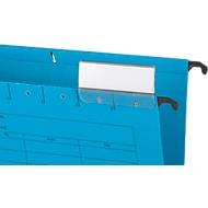 SCHÄFER SHOP hangmappen, voor formaten tot A4, met soufflets aan de zijkant, blauw