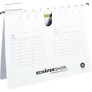 SCHÄFER SHOP hangsnelhechters, voor formaten tot A4, hechtstrook bovenaan, wit