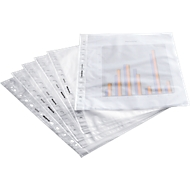 SCHÄFER SHOP insteekhoesje, A4, bovenaan open, 100 stuks, generfd, transparant, 0,08 mm, premium