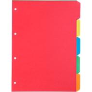 SCHÄFER-SHOP intercalaires carton couleur, 5 divisions, set de 5 jeux
