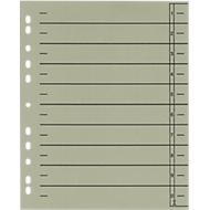 SCHÄFER SHOP Intercalaires lignés en carton, A4,  avec onglets à découper, gris, 100 sets