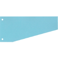 SCHÄFER SHOP Intercalaires trapèzes, bleu, 100 pièces