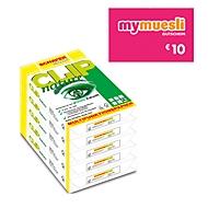 SCHÄFER SHOP Kopierpapier CLIP nature 20 x 500 Blatt + mymuesli GUTSCHEIN im Wert von 10 Euro