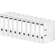 SCHÄFER SHOP ordner, A4, rugbreedte 80 mm, 10 stuks, wit