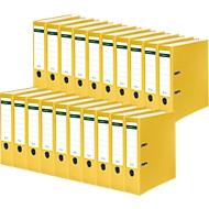 SCHÄFER SHOP ordner, A4, rugbreedte 80 mm, 20 stuks, geel