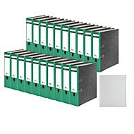 SCHÄFER SHOP ordner, A4, rugbreedte 80 mm, 20 stuks + GRATIS 1 PP ordner tabbladen A-Z,