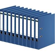 SCHÄFER SHOP Ordner, DIN A4, Rückenbreite 50 mm, 10 Stück, blau