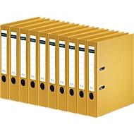SCHÄFER SHOP Ordner, DIN A4, Rückenbreite 50 mm, 10 Stück, gelb