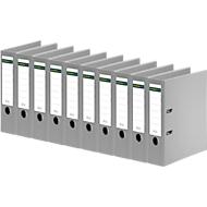 SCHÄFER SHOP Ordner, DIN A4, Rückenbreite 80 mm, 10 Stück, grau