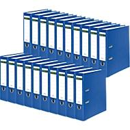 SCHÄFER SHOP Ordner, DIN A4, Rückenbreite 80 mm, 20 Stück, blau