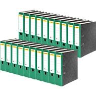 SCHÄFER SHOP Ordner, DIN A4, Rückenbreite 80 mm, 20 Stück, grün