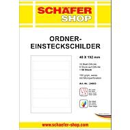 SCHÄFER SHOP ordners-insteeketiketten, bedrukbaar, rugbreedte 48 mm, 50 stuks