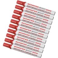 SCHÄFER-SHOP Permanent Marker 300, 10 Stück, rot