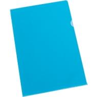SCHÄFER SHOP Pochettes coin PP, A4, nervurées, bleu, 25 pièces