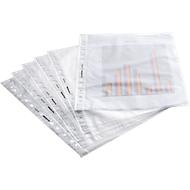 SCHÄFER SHOP pochettes perforées en PP, A4, 50 microns, nervuré, transparent, paquet de 100 pièces