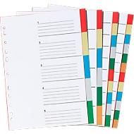 SCHÄFER SHOP PP-Farbregister DIN A4, freie Verwendung, 5 Blätter, 5-farbig, 10 Stück