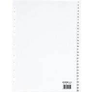 SCHÄFER SHOP PP ordner-indexbladen, A4-formaat, cijfers 1-31, wit